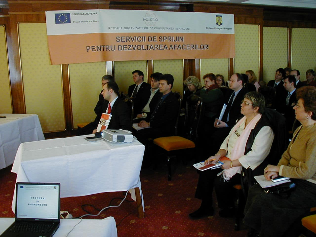"""Conferinţa de lansare a proiectului """"Servicii de sprijin pentru dezvoltarea afacerii"""""""